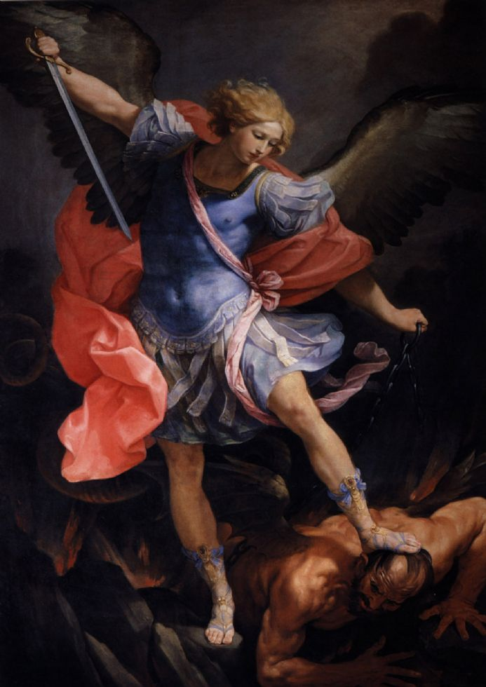 Reni, Guido: The Archangel Michael Defeating Satan. Fine Art Print/Poster